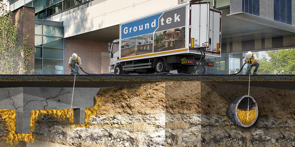 Office building soil improvement Groundtek